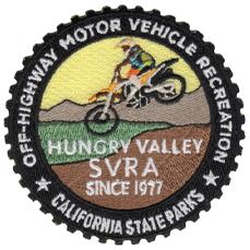 "Hungry Valley SVRA patch, 3"""