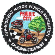 """Prairie City SVRA patch, 3"""""""